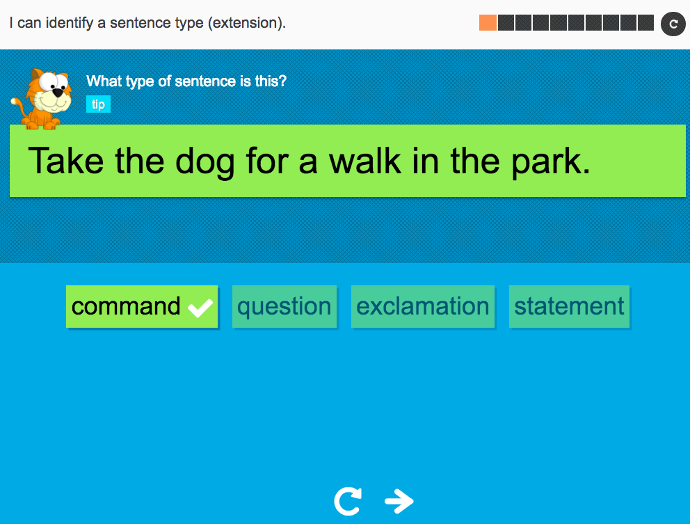 I can identify a sentence type (more practice) - Interactive Activity - Year 2 Spag