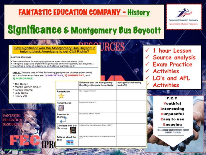 Significance and Montgomery Bus Boycott