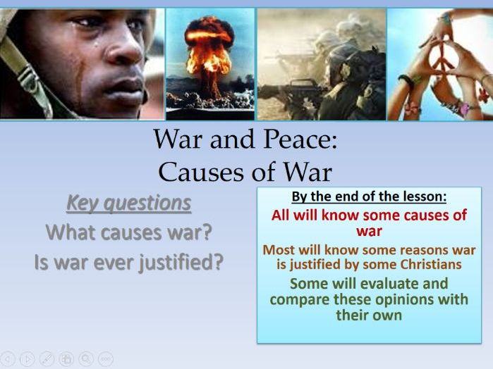 Entire Peace and Conflict Scheme of Work! Oh yes.