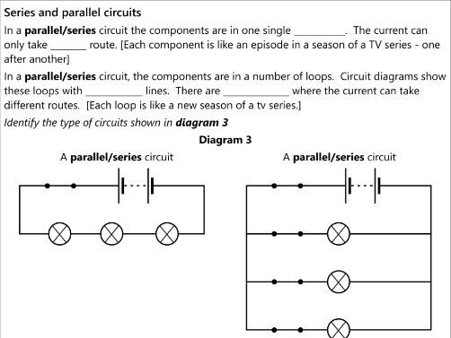 Edexcel GCSE SP10a Electric circuits work book