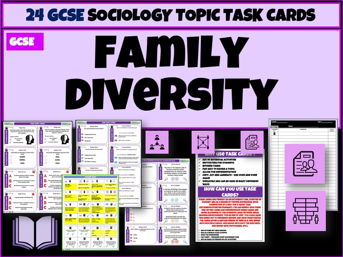 Family Diversity Sociology Task Cards