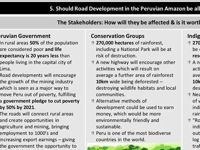 AQA GCSE Geography Amazon Rainforest Issue Evaluation Knowledge Organiser