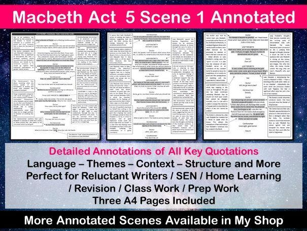 Macbeth Act 5 Scene 1 Annotated