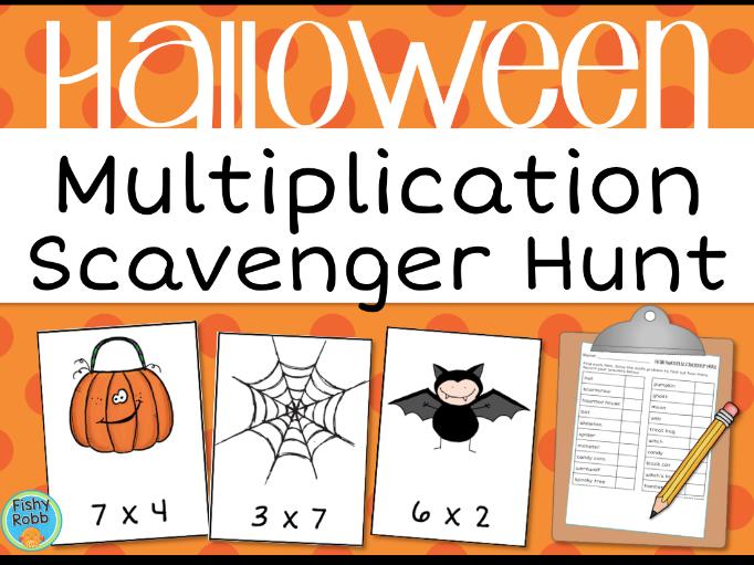 Halloween Multiplication Scavenger Hunt Activity