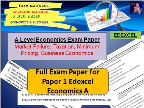 Microeconomics Exam Paper: A Level Economics