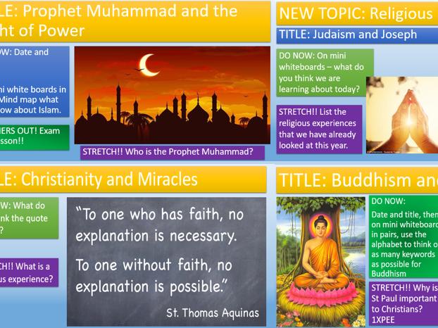 KS3 - Religious Experiences