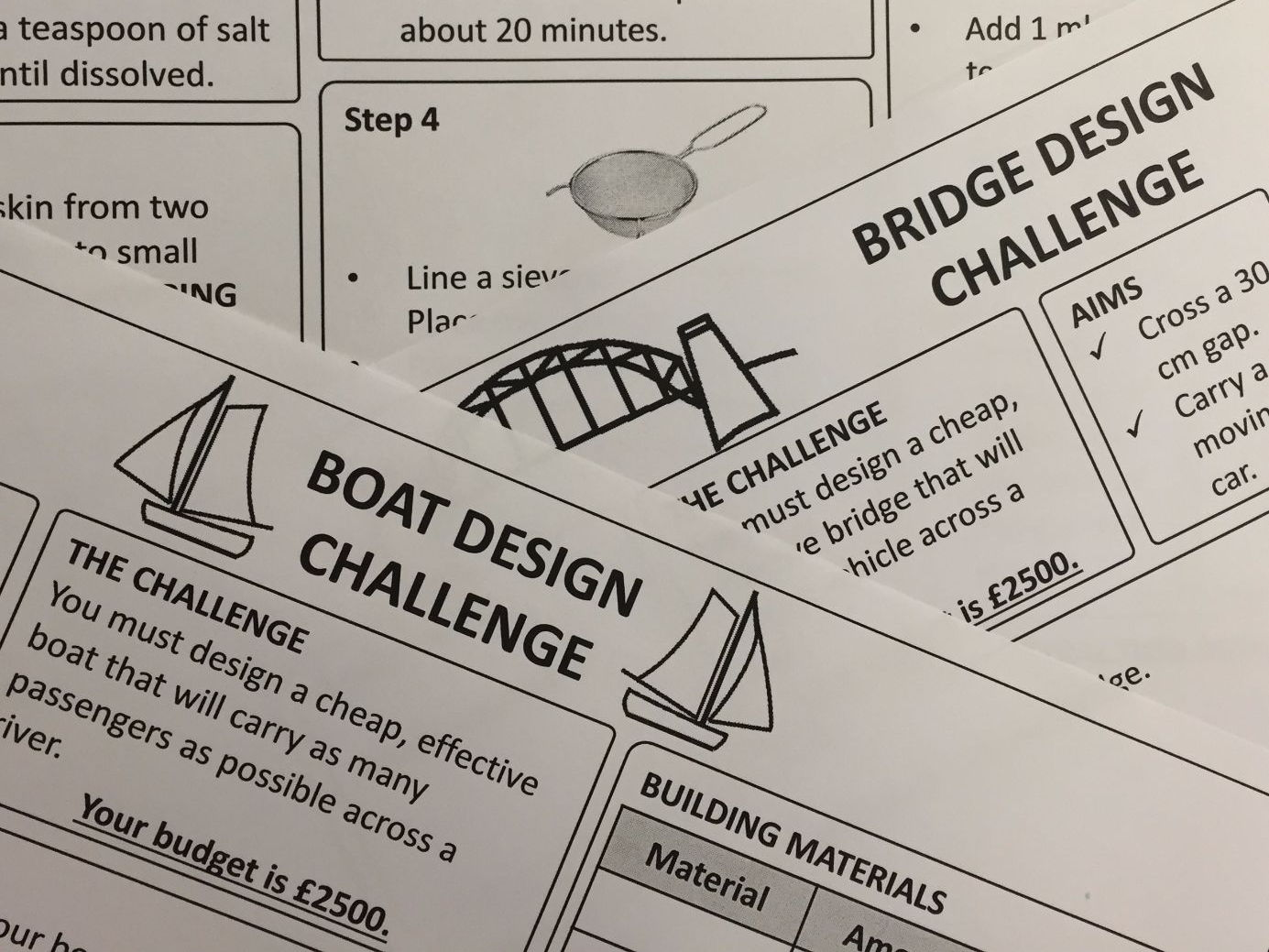 Primary School Science Experiments: Boats, Bridges and DNA