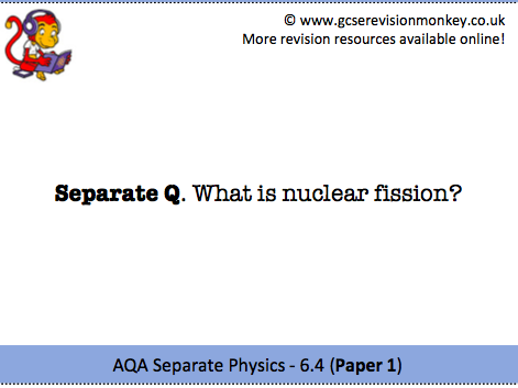 Revision Cards - AQA Separate Physics 6.4