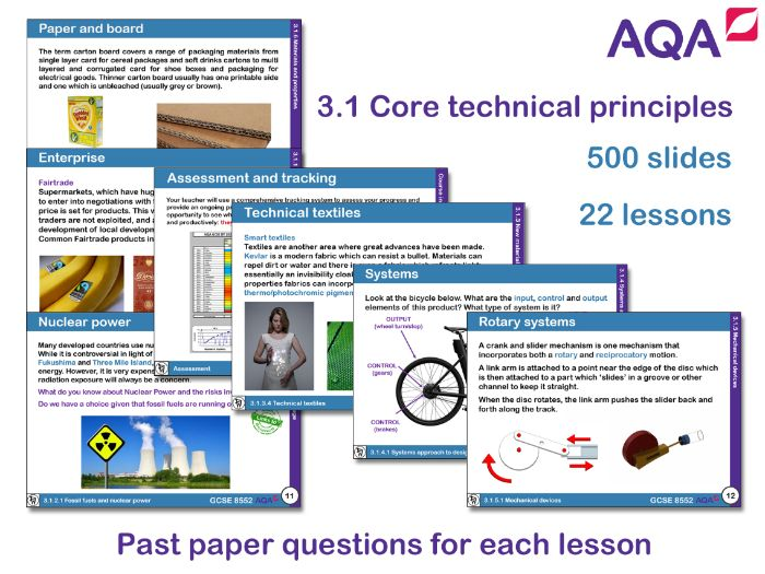 AQA GCSE Design and Technology 3.1: Core Technical Principles