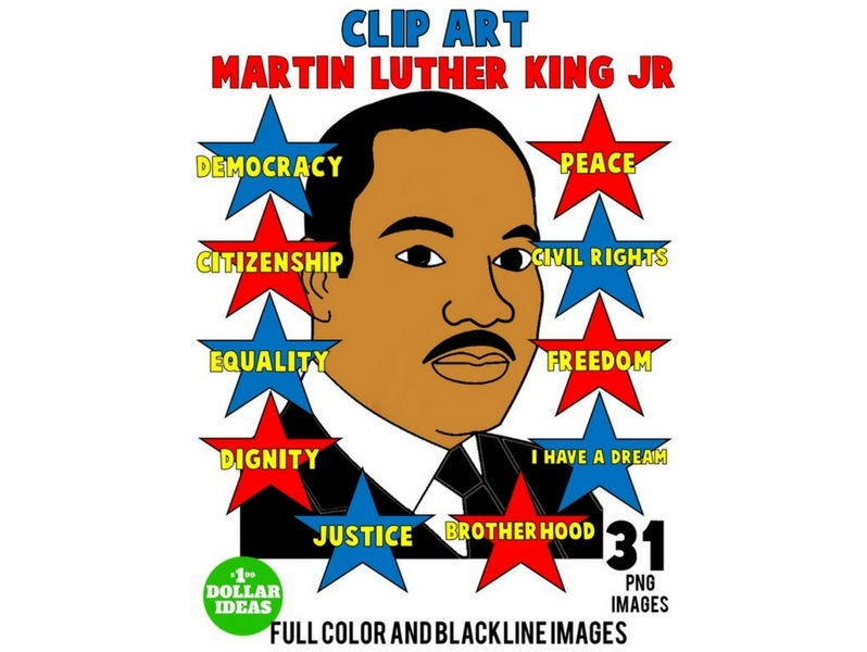 MARTIN LUTHER KING JR CLIPART | MARTIN LUTHER KING ACTIVITIES | MLK