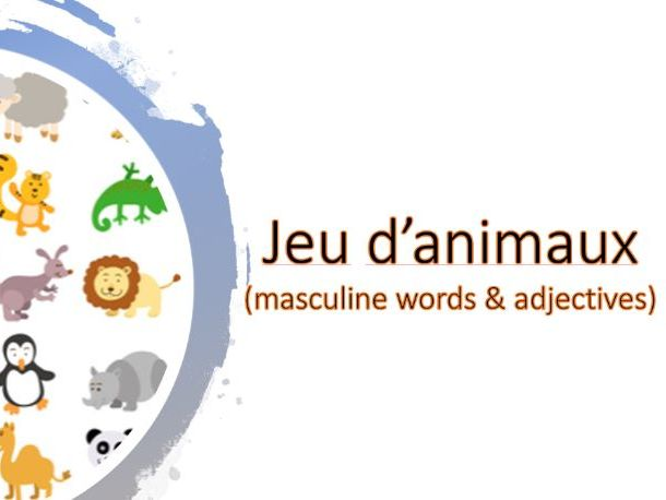 Jeu d' animaux masculins_masculine animals game