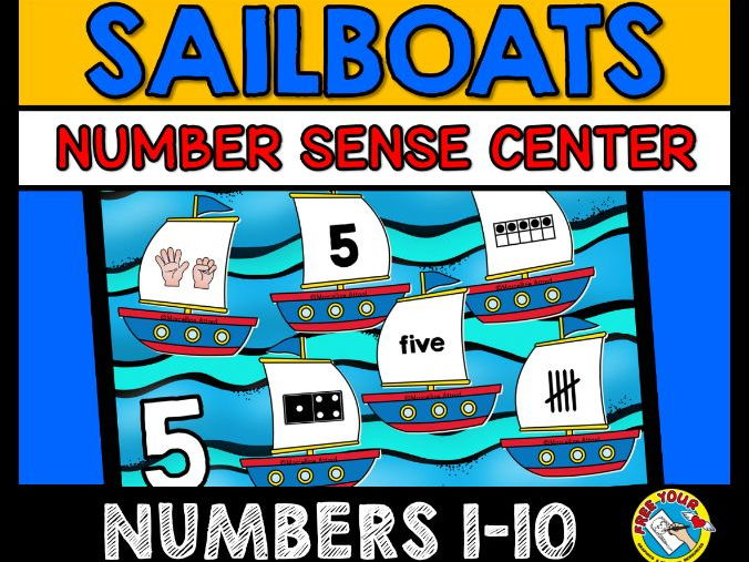 SUMMER NUMBER SENSE KINDERGARTEN ACTIVITIES (SAILING THEME NUMBER SENSE GAME)