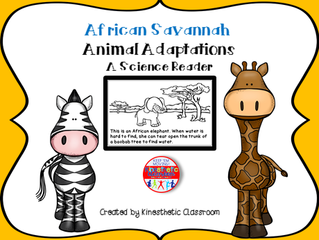 African Savanna Animal Adaptations - A Science Reader