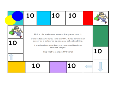 Counting in Tens Board Game