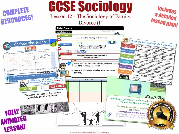 Divorce (I) - Sociology of Families - L12/20 [ WJEC EDUQAS GCSE Sociology ] Trends & Changes (NEW)