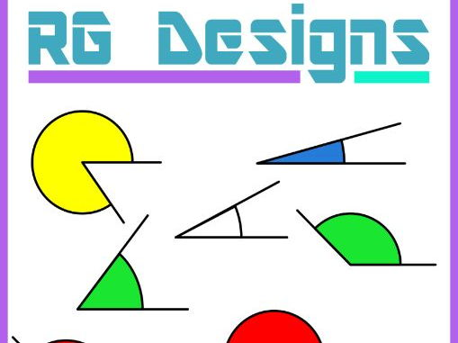 5 Degree Increments Angles Maths Geometry Clip Art- 5 Colors- 355 Images