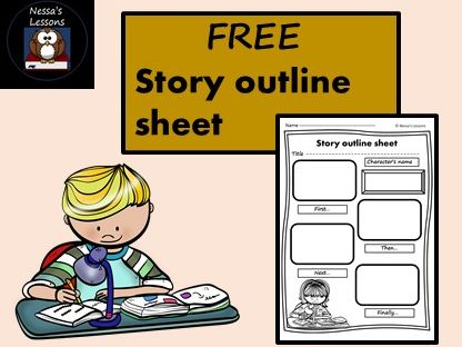 FREE story outline sheet