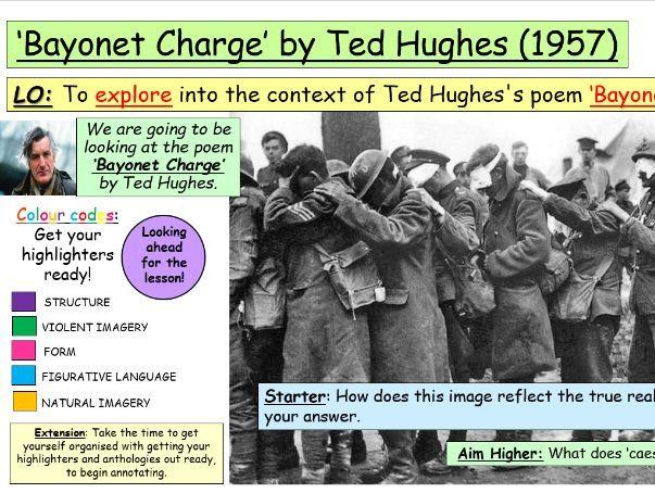 'Bayonet Charge' Ted Hughes