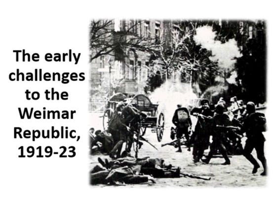 The early challenges to the Weimar Republic, 1919-23