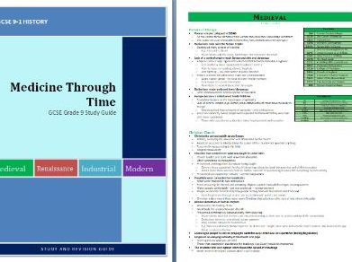 Medicine Through Time GCSE Revision Guide (AQA Grade 9 - 21 pages)