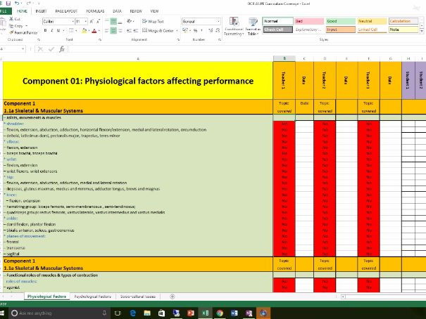 OCR AS PE (2016): Curriculum Tracking Document