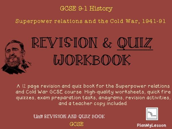 GCSE Superpower Relations and the Cold War Revision and Quiz Book