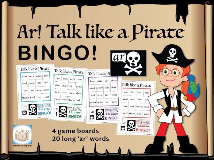 Ar! Talk like a Pirate Bingo