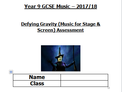 Defying Gravity Assessment