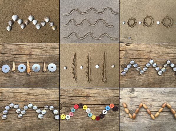 Pre-writing nature patterns by The Crafty Kiwi Teacher
