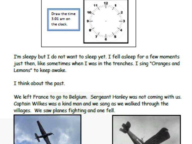 Private Peaceful summary for EAL learners - reading for pleasure