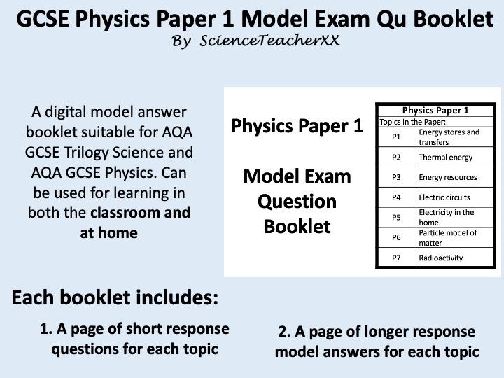 AQA GCSE Physics Paper 1 Revision Booklet