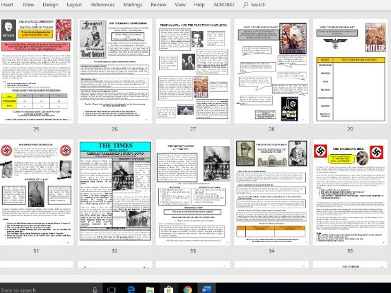 Weimar and Nazi Germany - Full Unit of Work
