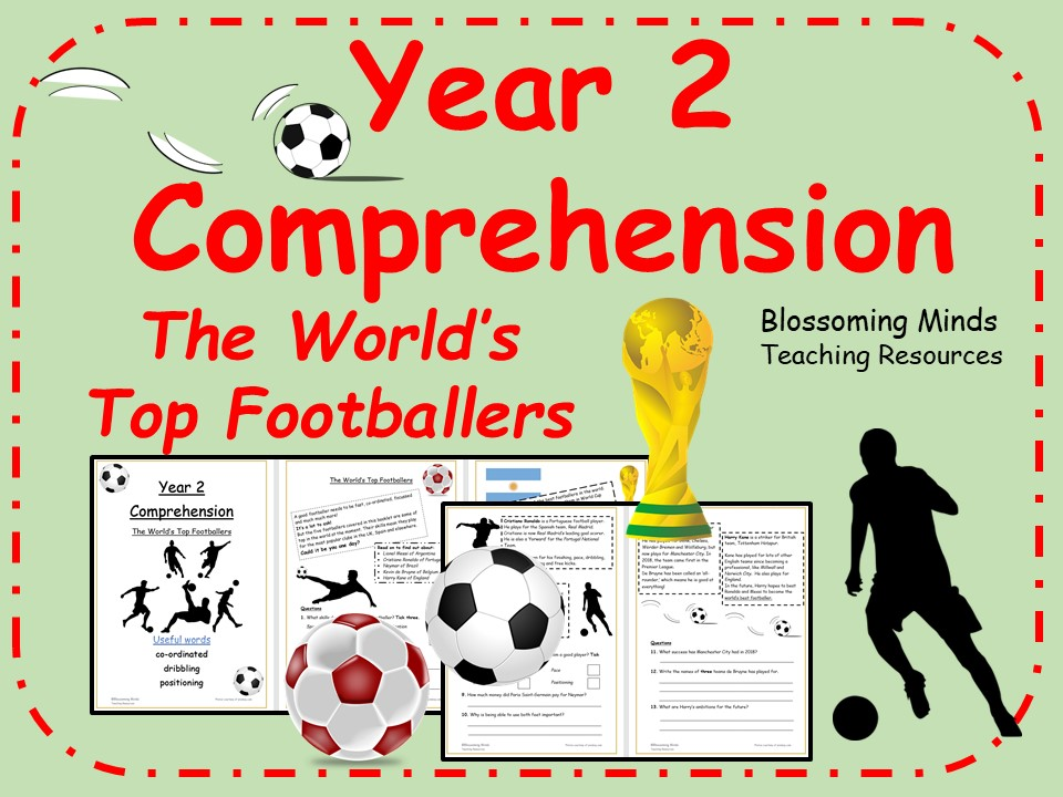 Year 2 Football World Cup 2018 Reading Comprehension