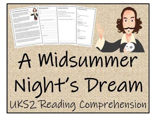 UKS2 Literacy - A Midsummer Night's Dream Reading Comprehension Activity