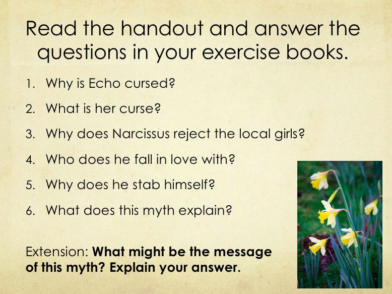 Greek Myths - Pandora, Narcissus, Persephone