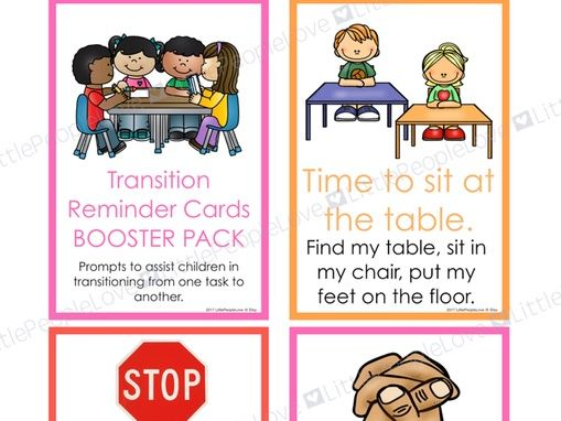 Transition Reminder Cards