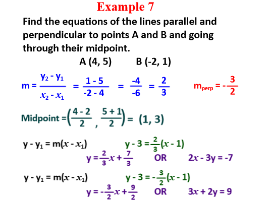 Coordinate Geometry (equations of straight lines) (Further Maths GCSE / A-Level)