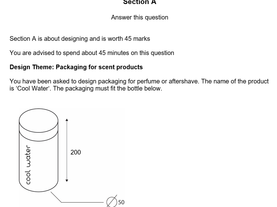 AQA Graphic Products exam practice section A