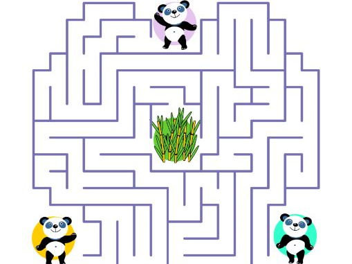 Maze Game with Panda Bears