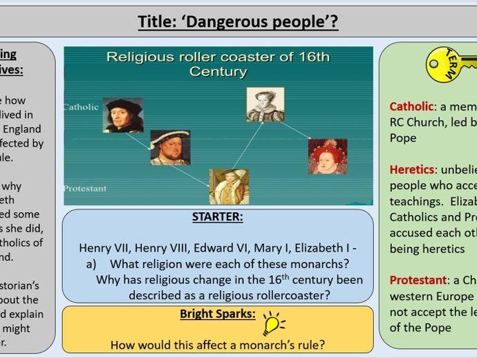 OCR J411 GCE The Elizabethans - Section 2: Elizabeth and Catholics