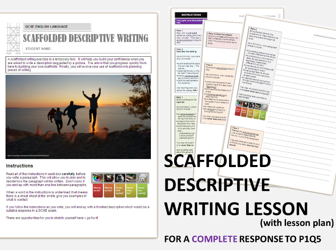 GCSE English Language 9-1 Scaffolded Descriptive Writing - Whole Text Exercise