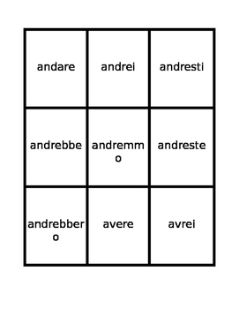 Condizionale (Conditional in Italian) Spoons game / Uno game