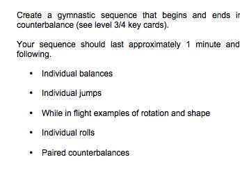 Gymnastics Worksheets