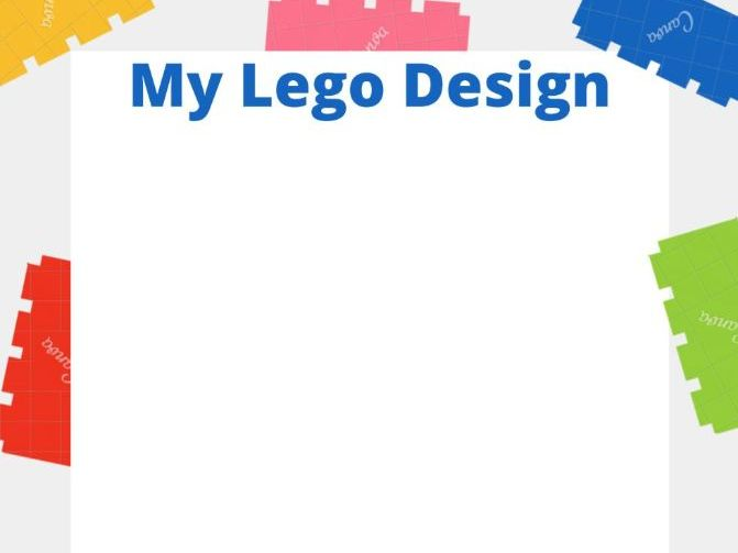 Lego Design-Draw/Write