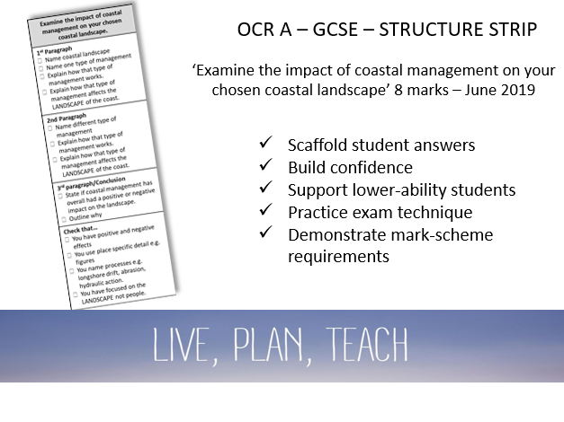 Examine impacts of coastal management on the landscape | OCR A GCSE Structure Strip
