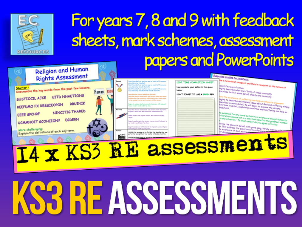 KS3 RE Assessments