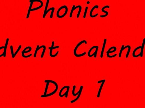 Phase 3-5 Phonics Advent Calendar Videos & Text