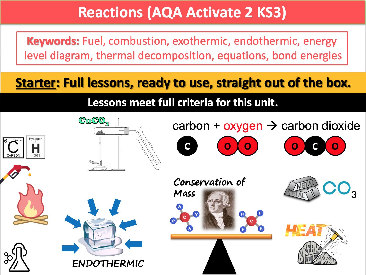 Reactions (AQA Activate 2 KS3)
