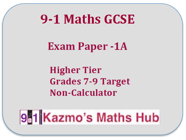 9-1 Maths Exam Paper -1A