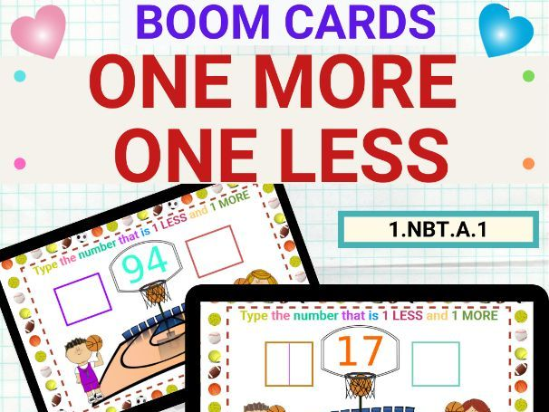 One More One Less Numbers Up to 120 Boom Card
